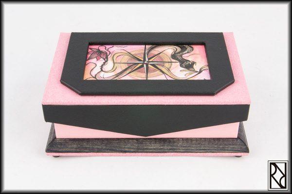 Joyero Rosa de los Vientos - Raíz de Roble - Arte y Artesanía