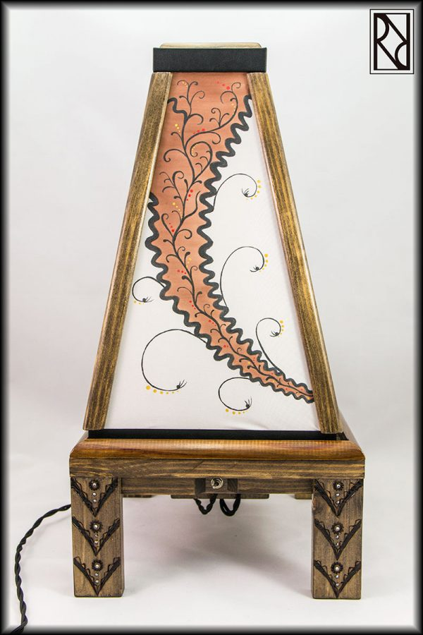 Lámpara Filigrana - Raíz de Roble - Arte y Artesanía