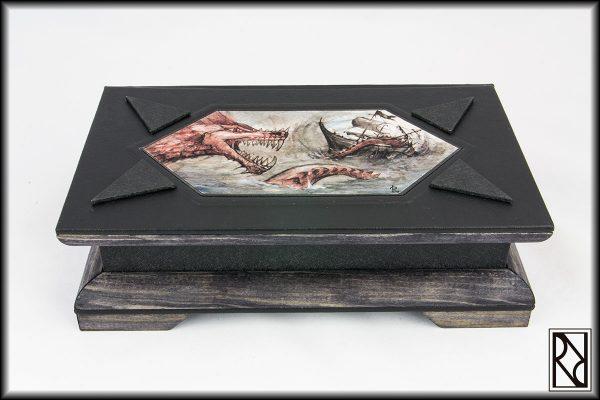 Cofre Cadena Dragón - Raíz de Roble - Arte y Artesanía