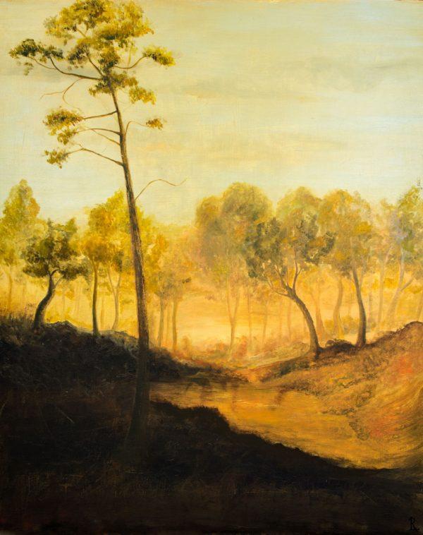 Óleo sobre tabla 100x81 cm- Al Amanecer - Laura Robles