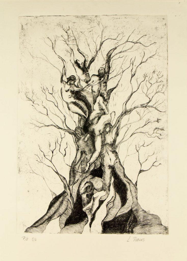 Grabado Calcográfico - Crecer - Laura Robles