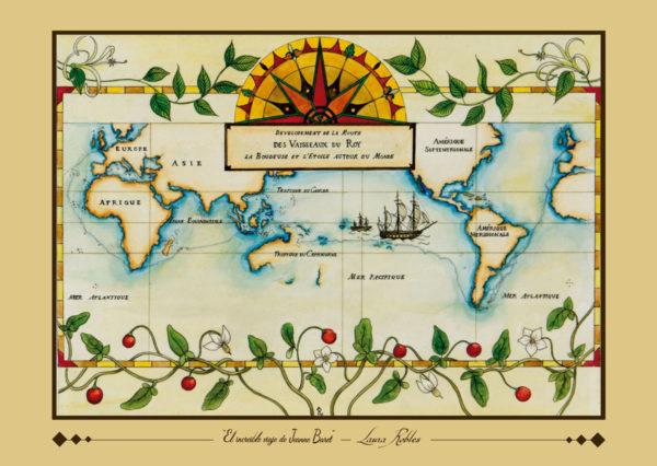 Lámina de la acuarela original El Increíble Viaje de Jeanne Baret - Laura Robles