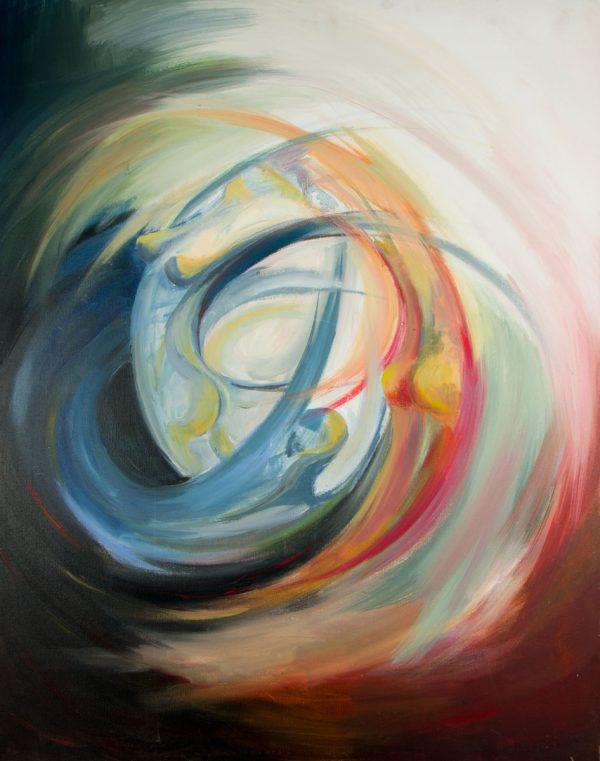 Acrílico sobre tabla 91x73 cm - En Movimiento - Laura Robles