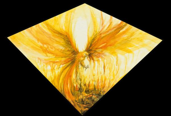Acuarela sobre papel- Fénix - Laura Robles