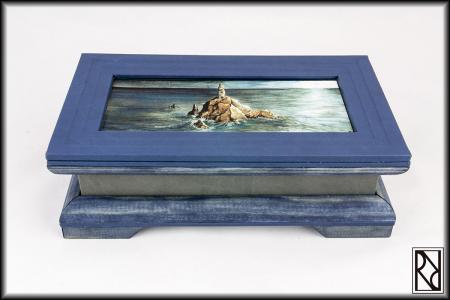 Cofre Cadena Torre - Raíz de Roble - Arte y Artesanía