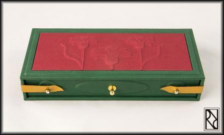 Carnation Pen Case Whit Drawer - Raiz de Roble - Art & Crafts