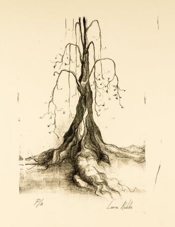Grabado Litográfico - Mujer árbol - Laura Robles