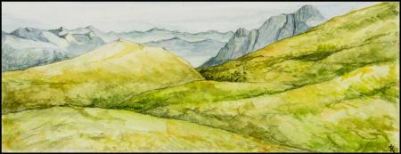 Acuarela - Montañas - Laura Robles