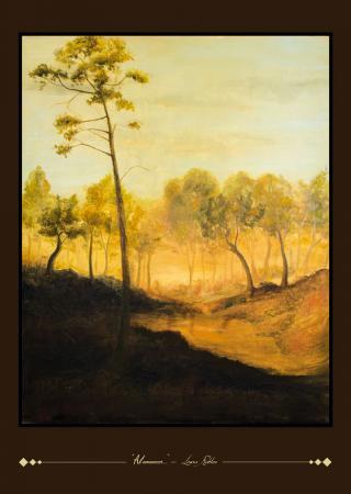 Lámina del oleo original Al Amanecer - Laura Robles