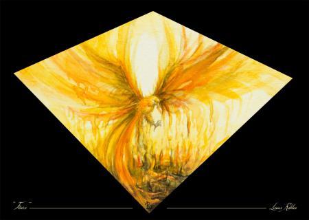 Lámina de la acuarela original Fénix - Laura Robles
